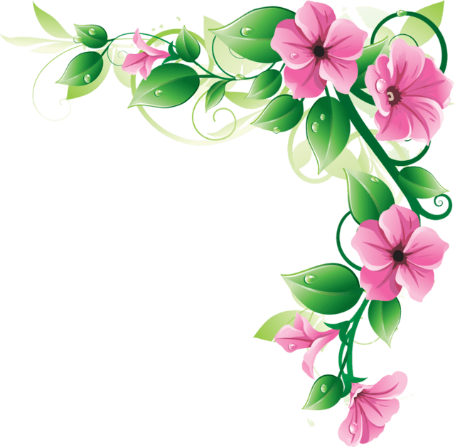 Flower border free clipart royalty free download Pin by 俐心 陳 on Art | Pinterest | Corner, Flowers and Clip art royalty free download