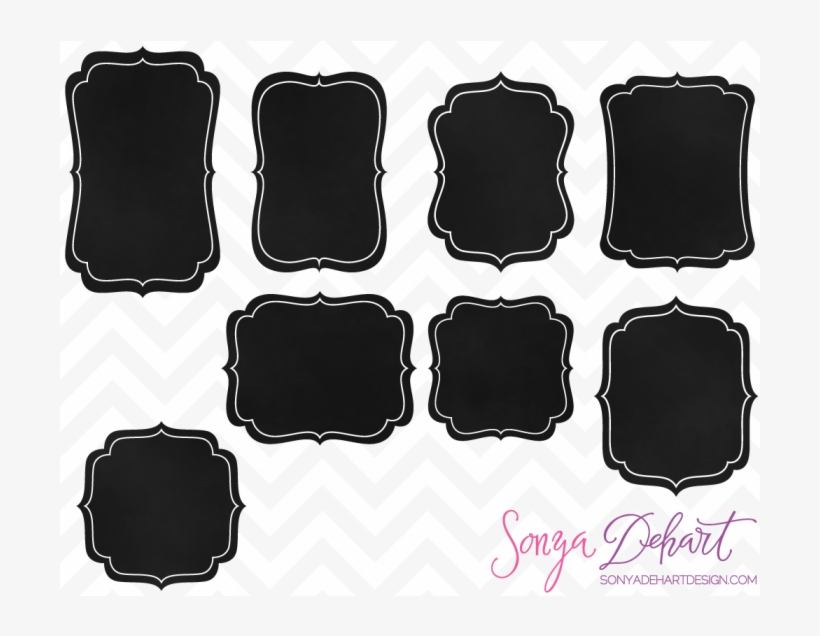 Chalkboard frame clipart free png black and white Chalkboard Clipart Square - White Chalkboard Frame Clipart - Free ... png black and white