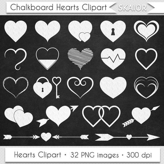 Chalkboard heart clip art svg free Chalkboard Hearts Clipart Valentine Clipart Hearts Clip Art svg free