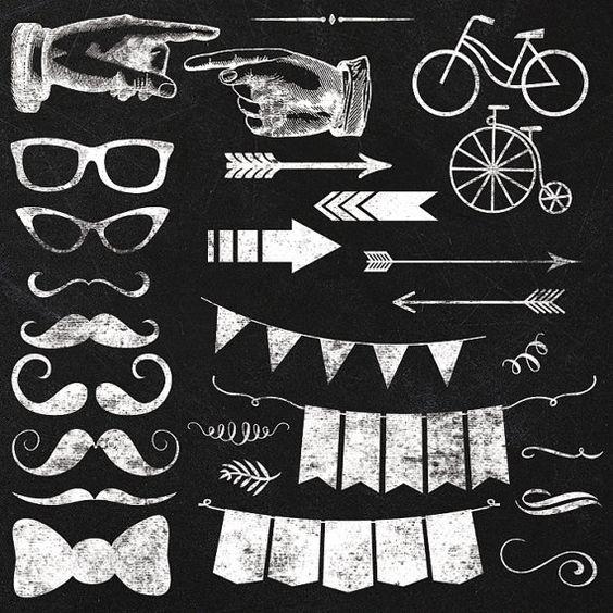 Clipart elements instant download. Chalkboard images clip art