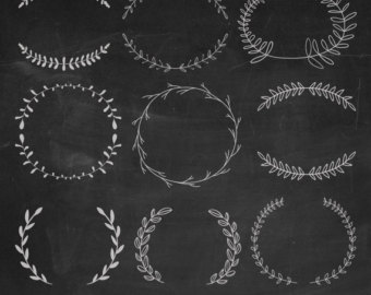 Clipart etsy hand drawn. Chalkboard images clip art