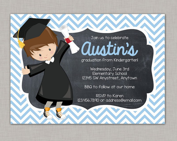 Chalkboard kinder graduation clipart black and white download Kindergarten Graduation Invitation, Preschool Graduation Invitation ... black and white download