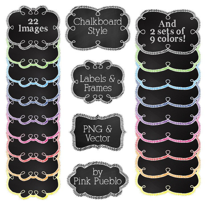 Chalkboard labels clipart clip library library Chalkboard Labels Clipart & Vectors – PinkPueblo clip library library