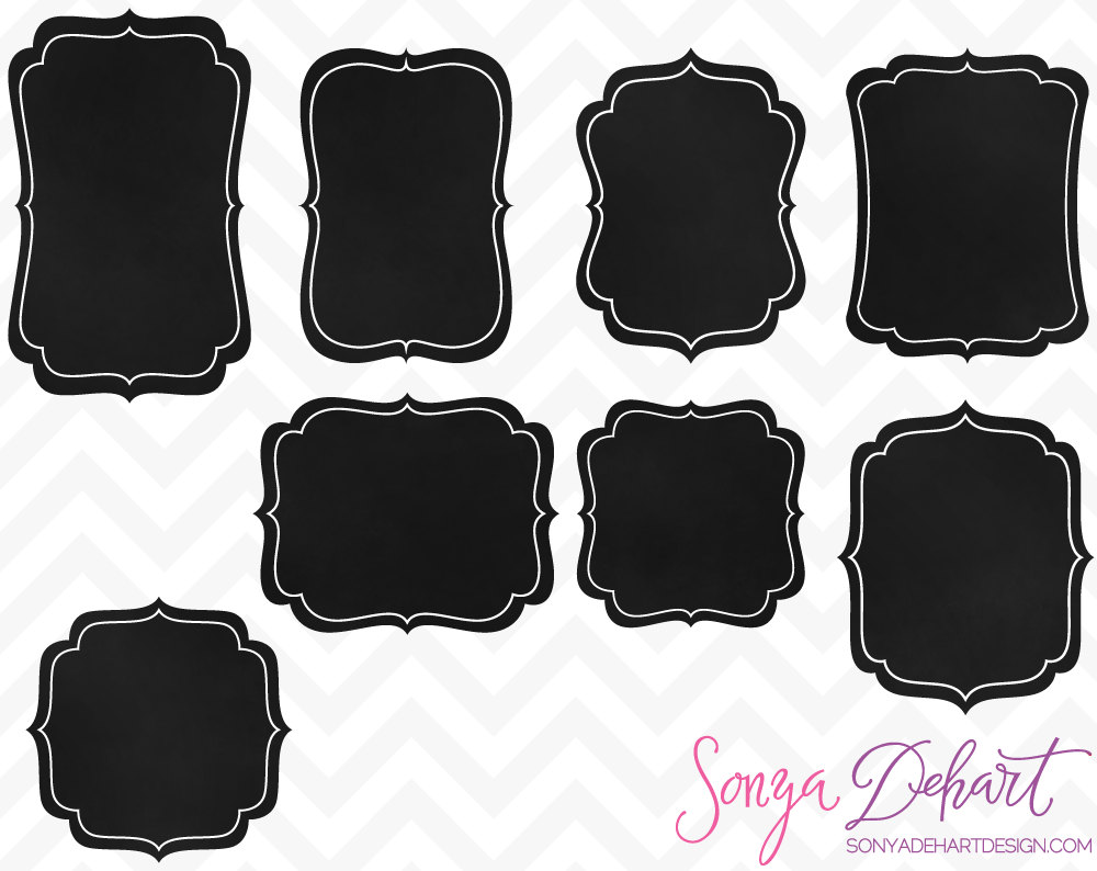 Chalkboard labels clipart. Label kid chandeliers pendant