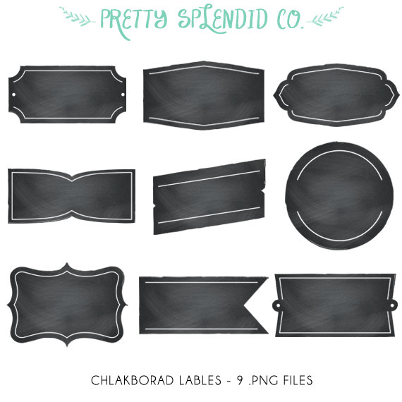 Chalkboard labels clipart png black and white library Chalkboard labels clipart - ClipartFest png black and white library