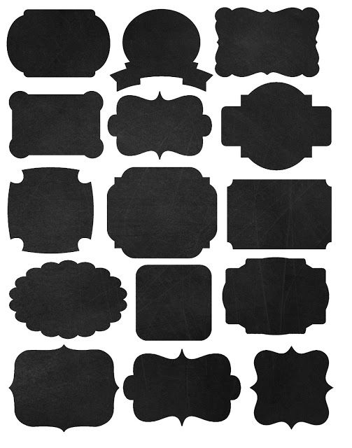 Chalkboard labels clipart.  best ideas about
