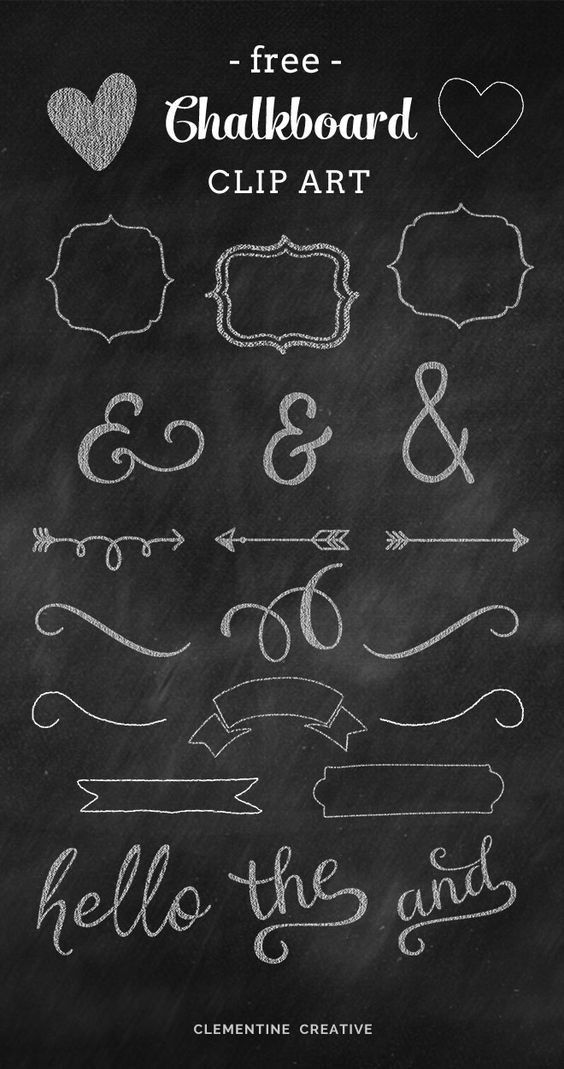 Chalkboard pictures clip art image free download Free Chalkboard Clip Art Graphics | Creative, Graphics and Design image free download