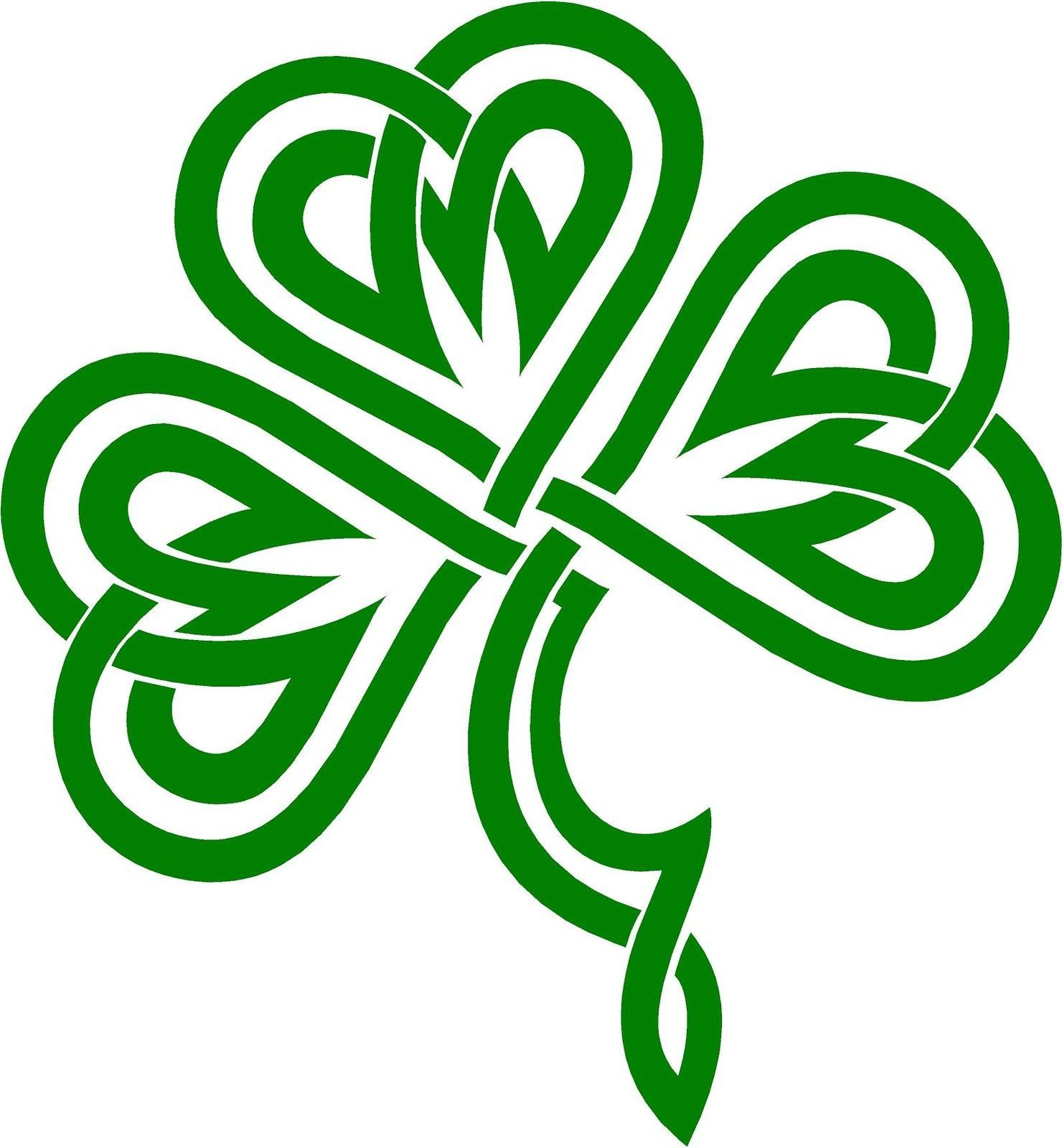 Chalkboard shamrock clipart banner freeuse Celtic shamrock clipart 3 » Clipart Station banner freeuse