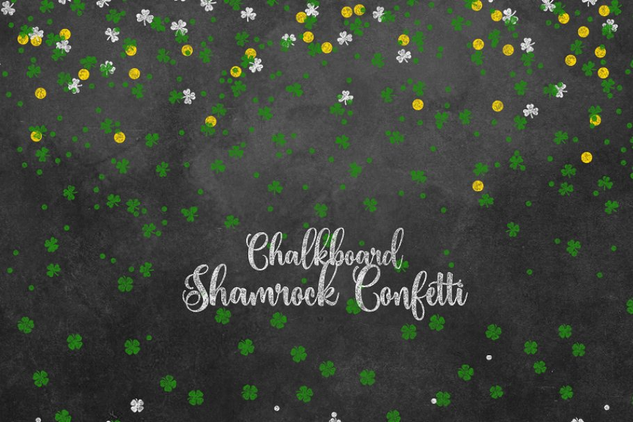 Chalkboard shamrock clipart