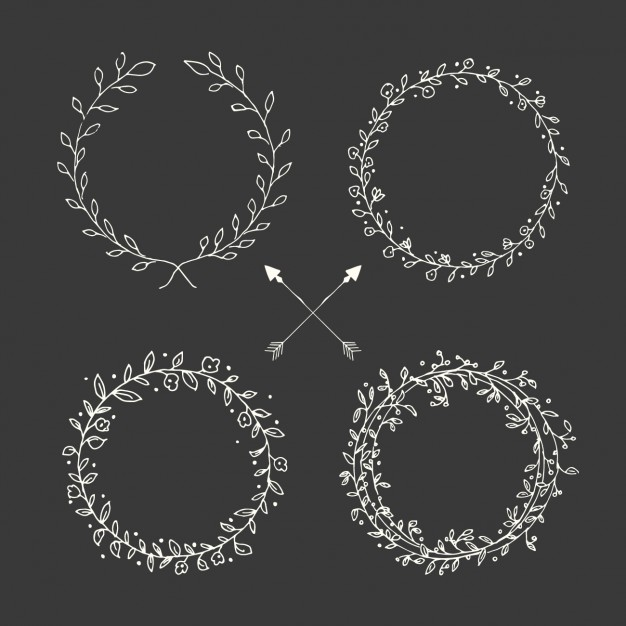 Chalkboard wreath clipart svg free library Wreath Vectors, Photos and PSD files   Free Download svg free library