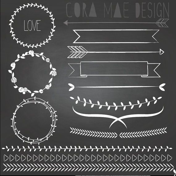Chalkboard wreath clipart graphic black and white stock 10+ images about Chalkboard Art on Pinterest   Clip art, Vintage ... graphic black and white stock