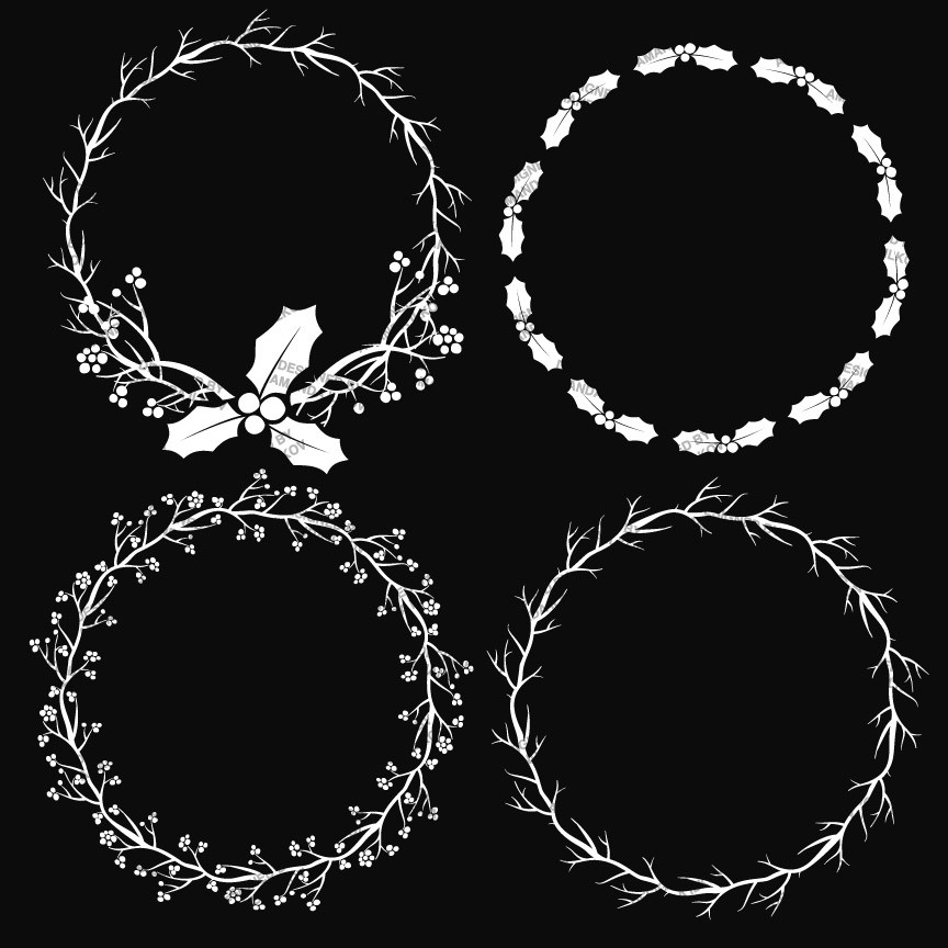 Chalkboard wreath clipart banner black and white download Chalkboard wreath clipart - ClipartFest banner black and white download