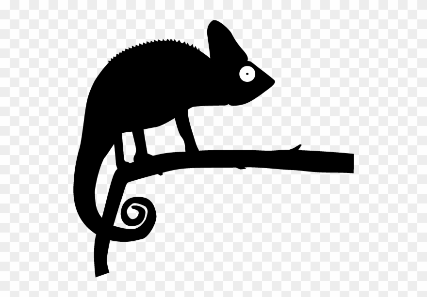 Chameleon black and white invisible background clipart clipart royalty free Image Black And White Chameleon Clipart Silhouette - Chameleon ... clipart royalty free