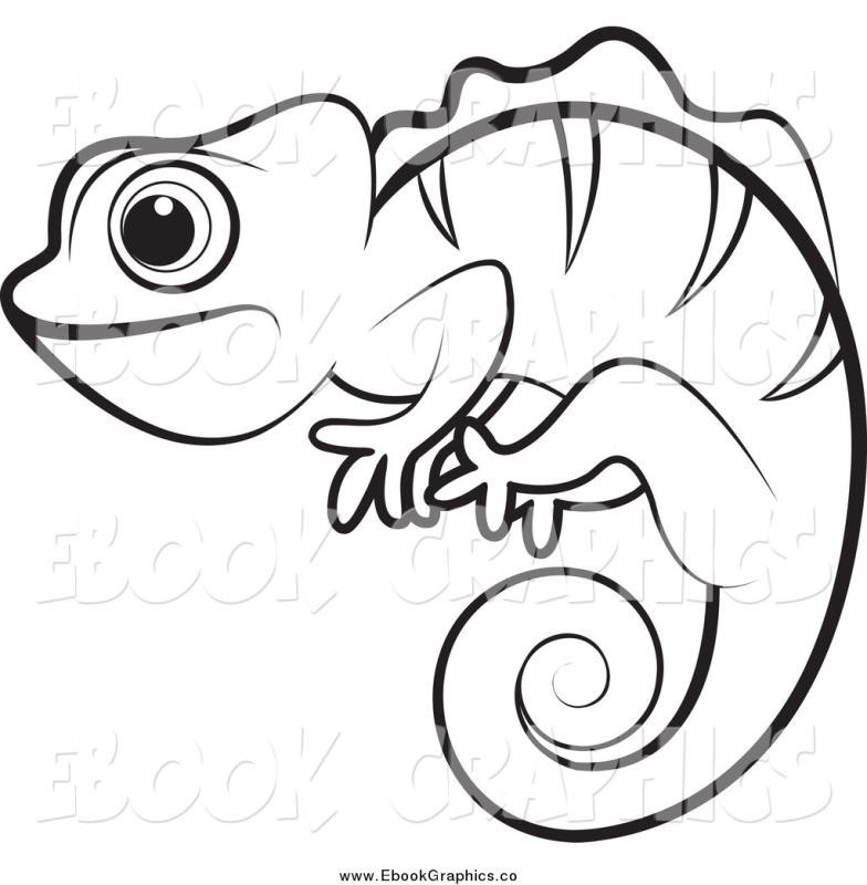 Chameleon clipart black and white - 123 transparent clip arts ... clip art library