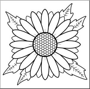 Chamomile clipart b&w graphic transparent download Clip Art: Daisy B&W I abcteach.com | abcteach graphic transparent download