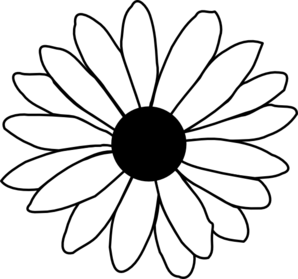 Chamomile clipart b&w transparent stock Daisy Clipart Black And White | Clipart Panda - Free Clipart Images transparent stock