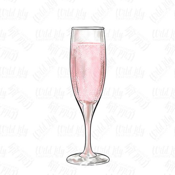 Champage glass clipart image royalty free library CHAMPAGNE GLASS CLIPART, pink champagne glass clip art, retro clip ... image royalty free library
