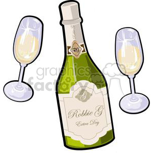 Champagne bottle and glasses clipart vector transparent download champagne bottle with glasses for new years clipart. Royalty-free clipart #  381033 vector transparent download