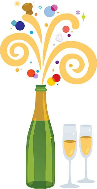 Champagne bottle popping clipart clipart royalty free Champagne Bottle Popping Clip Art | puzzles | Champagne, Clip art ... clipart royalty free