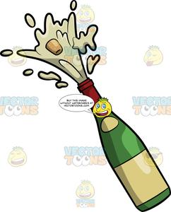 Champagne popping clipart graphic library library A Popping Champagne Bottle graphic library library