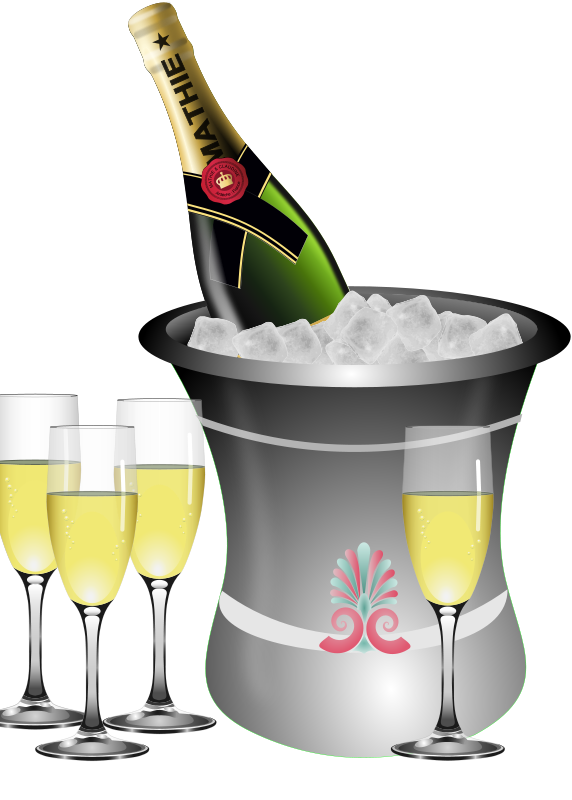 Champagne clipart free download vector black and white Champagne bottle clipart free download clip art png 2 - Clipartix vector black and white