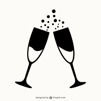 Champagne clipart free download png black and white stock Champagne Vectors, Photos and PSD files | Free Download png black and white stock