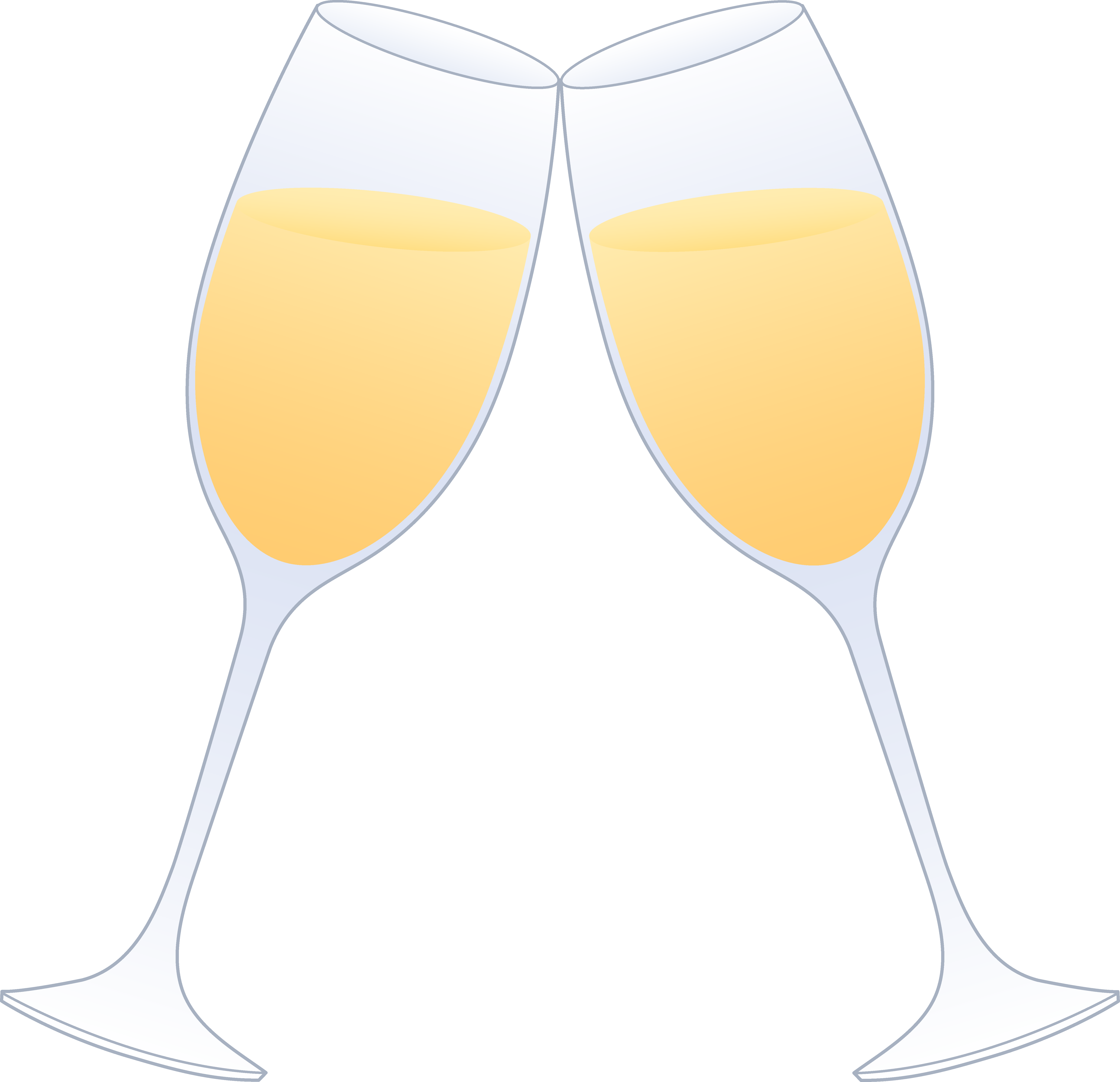 Toasting wine glass free clipart