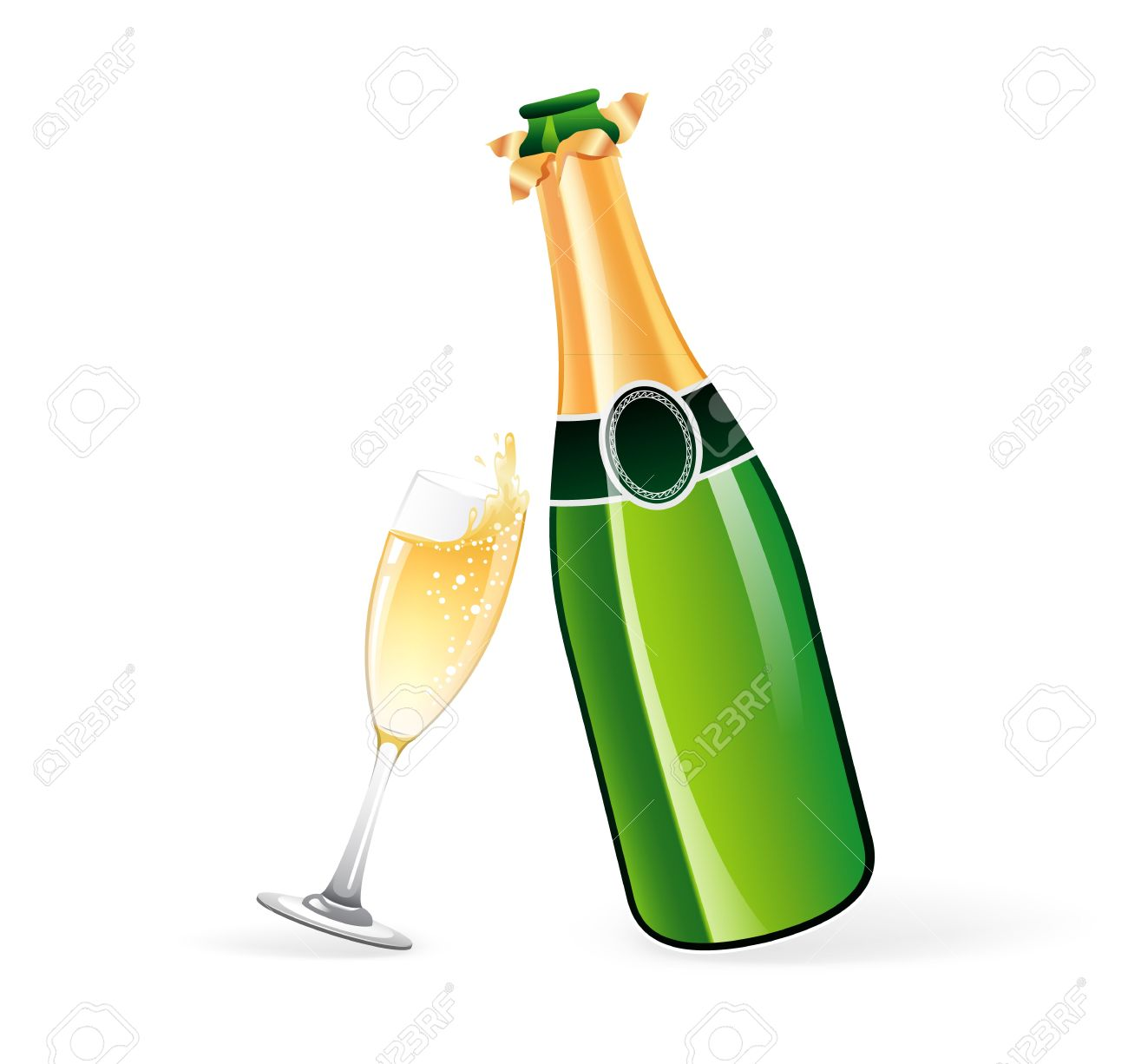 Champagne clipart free download vector transparent download Champagne bottle clipart free download jpg 2 - Clipartix vector transparent download