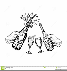 Champagne dot line clipart png stock Black And White Champagne Glasses Clipart | Free Images at Clker.com ... png stock
