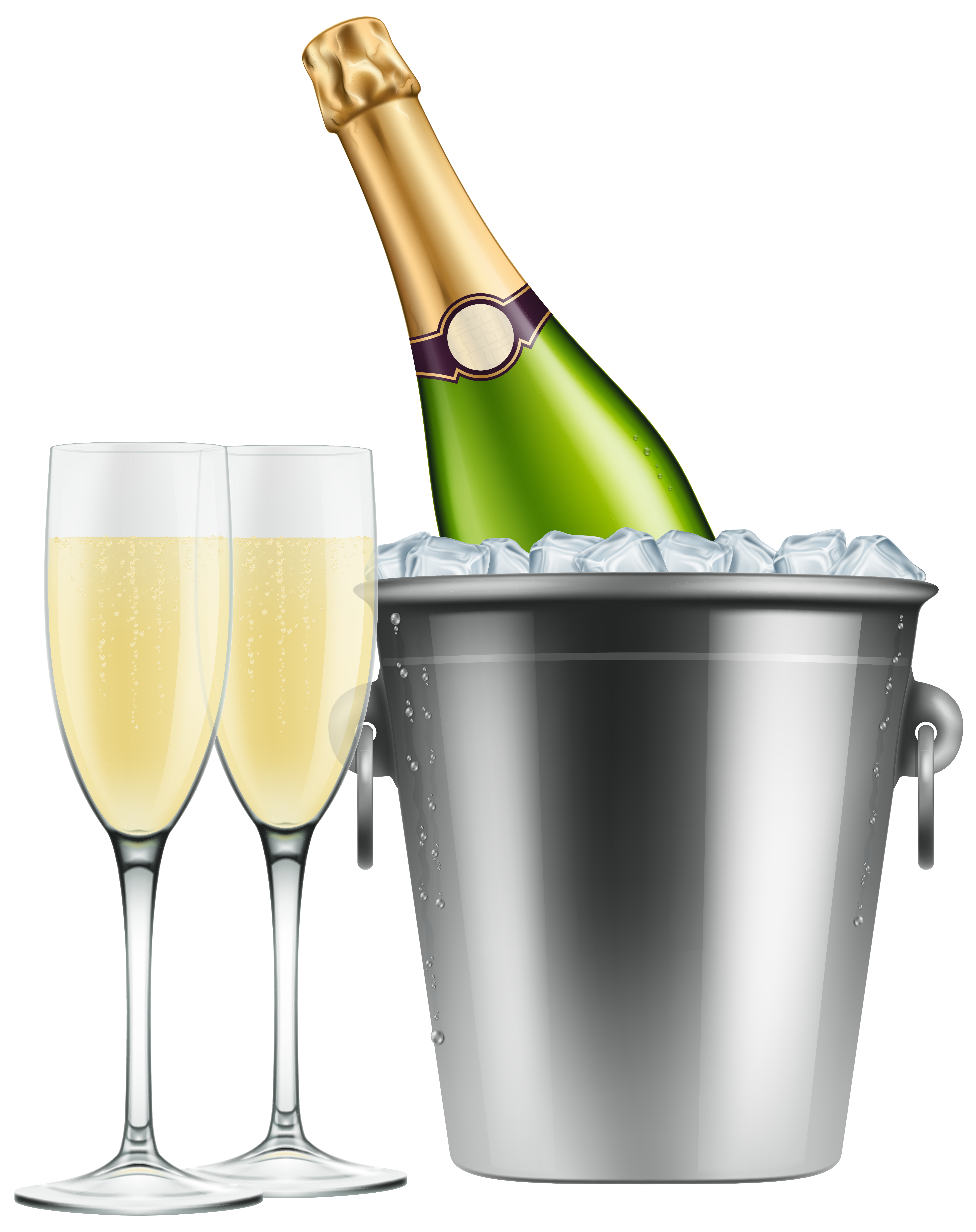 Champagne frame cliparts jpg royalty free download Champagne in Ice and Glasses PNG Clip Art Image | Gallery ... jpg royalty free download