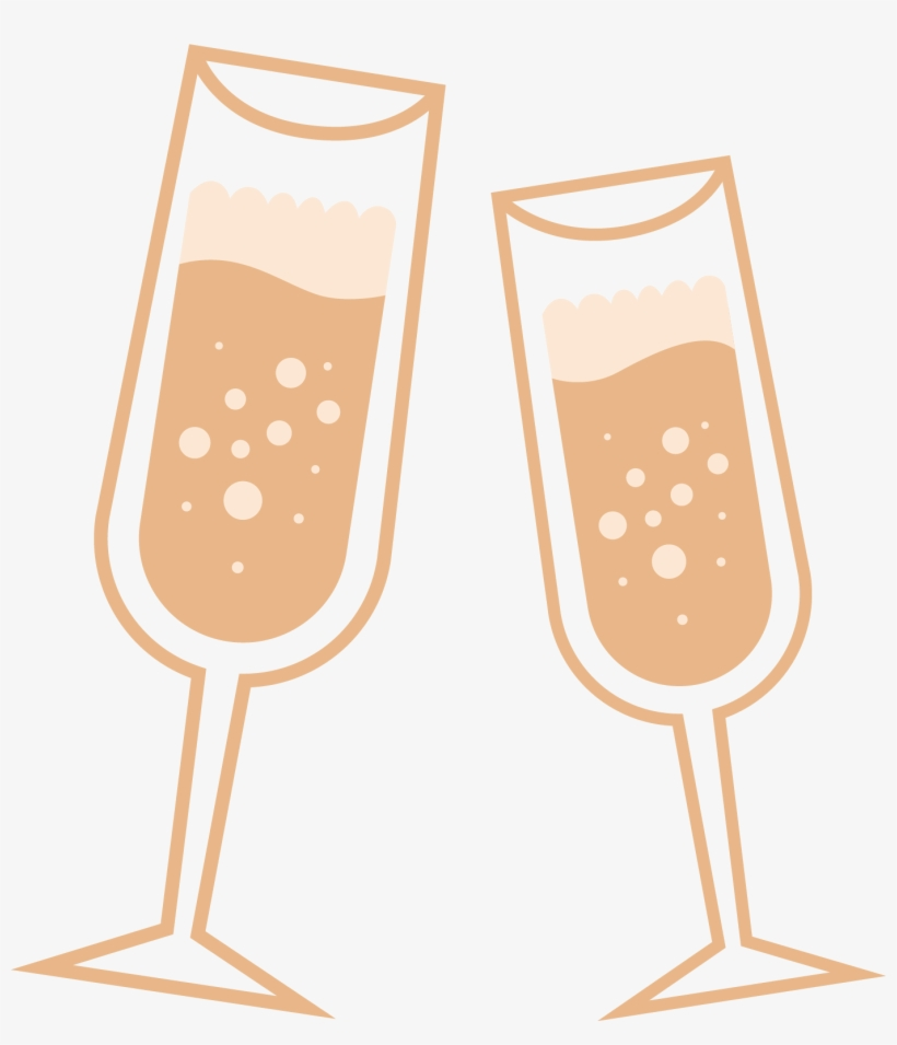 Wedding toast clipart vector vector freeuse download Vector Black And White Library Champagne Toast Clipart - Wine Glass ... vector freeuse download