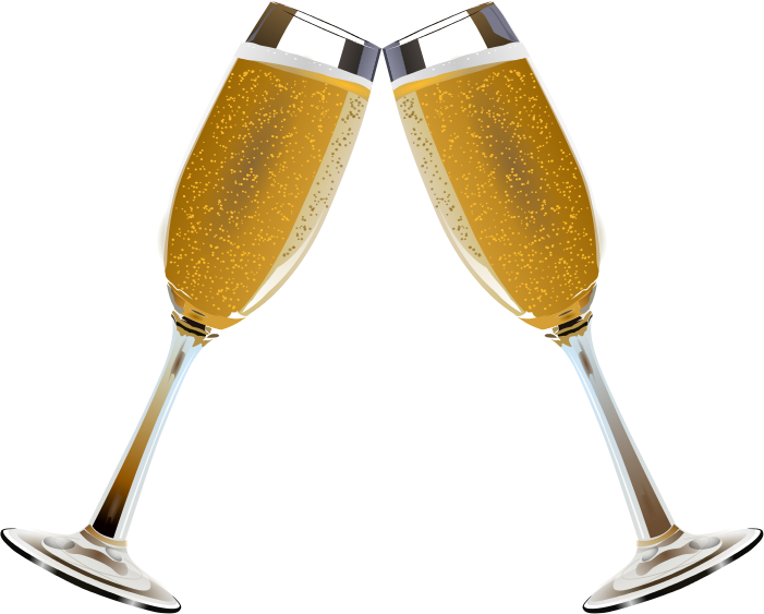 Champagne glasses toasting clipart png black and white stock Free Champagne Glass Images, Download Free Clip Art, Free Clip Art ... png black and white stock