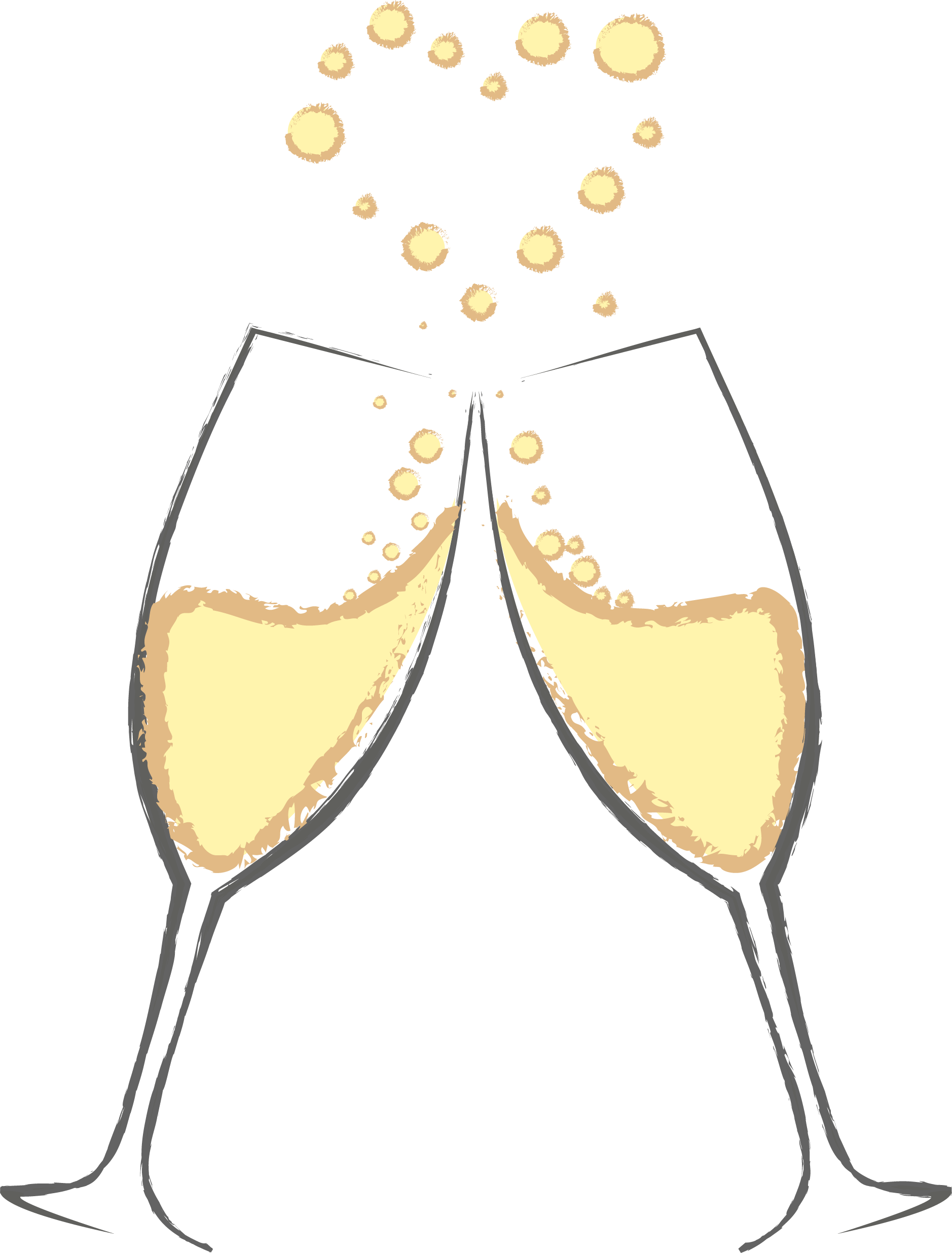 Champagne glasses clipart pictures black and white library HD Svg Library Stock Free Clipart Champagne Glasses - Cheers Wine ... black and white library