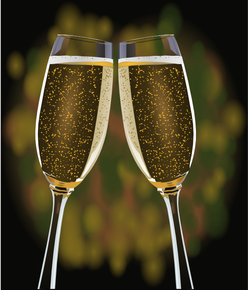 Champagne glasses toasting clipart graphic library library Champagne Glasses Clip Art at Clker.com - vector clip art online ... graphic library library