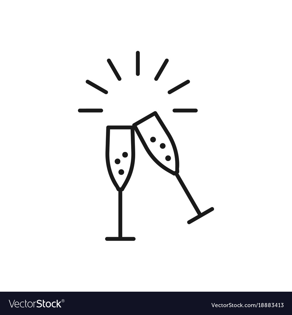 Wedding toast clipart vector image library library Champagne glasses icons wedding toasting wine image library library