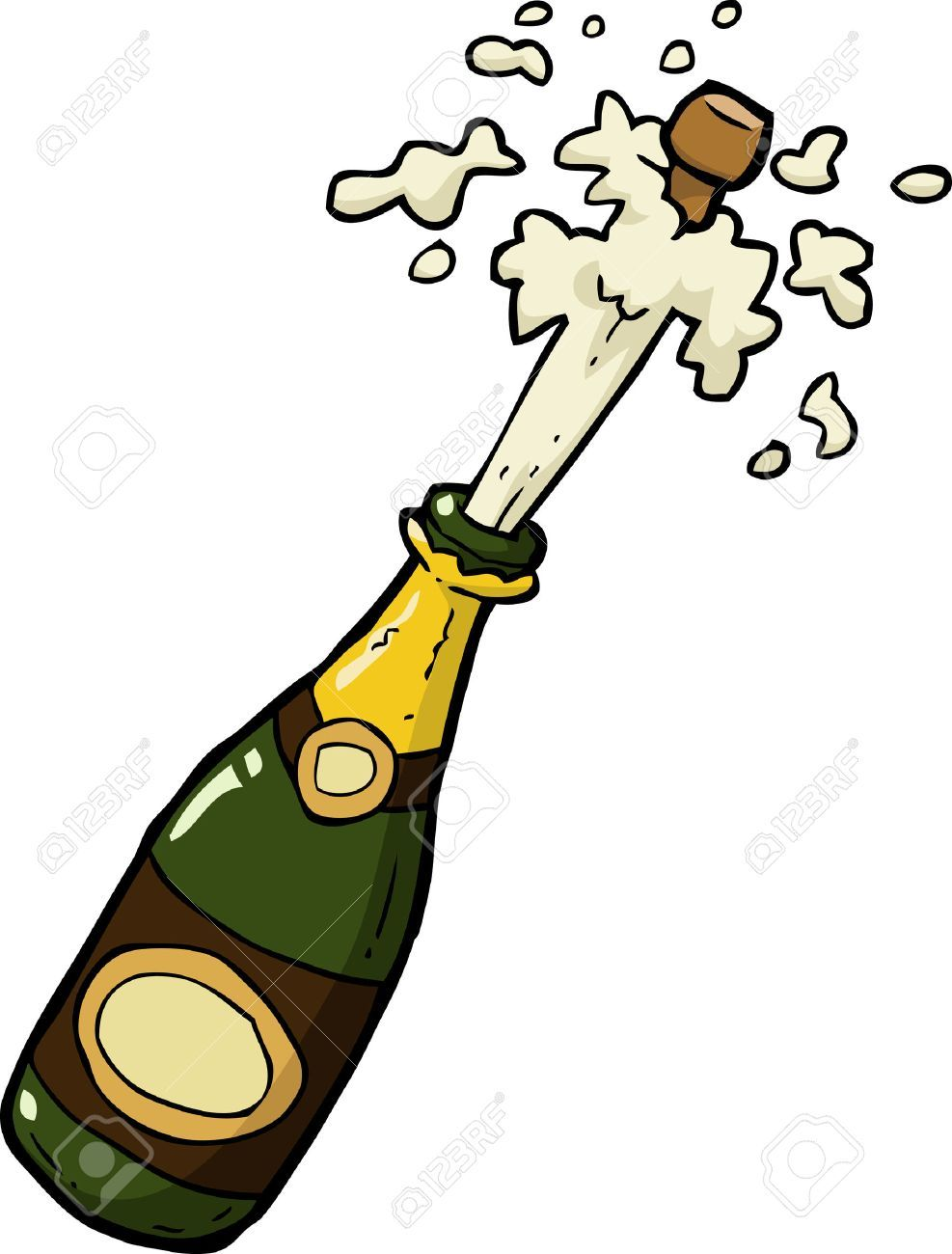Champagne popping clipart svg library Free clipart champagne bottle popping 8 » Clipart Portal svg library