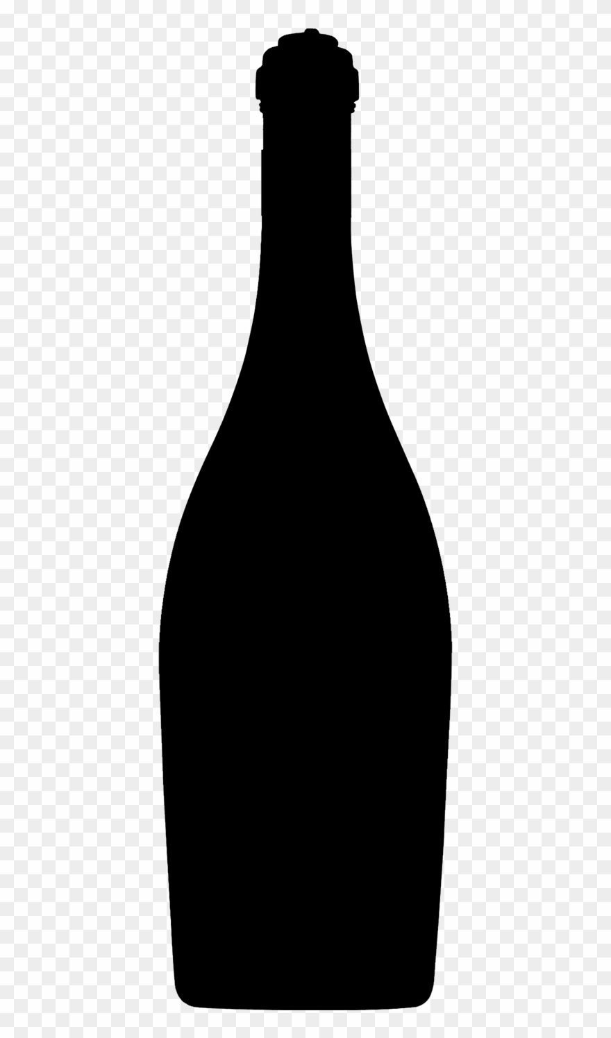 Champagne silhouette clipart image transparent library Champagne Silhouette Png - Glass Bottle Clipart (#3646090) - PinClipart image transparent library