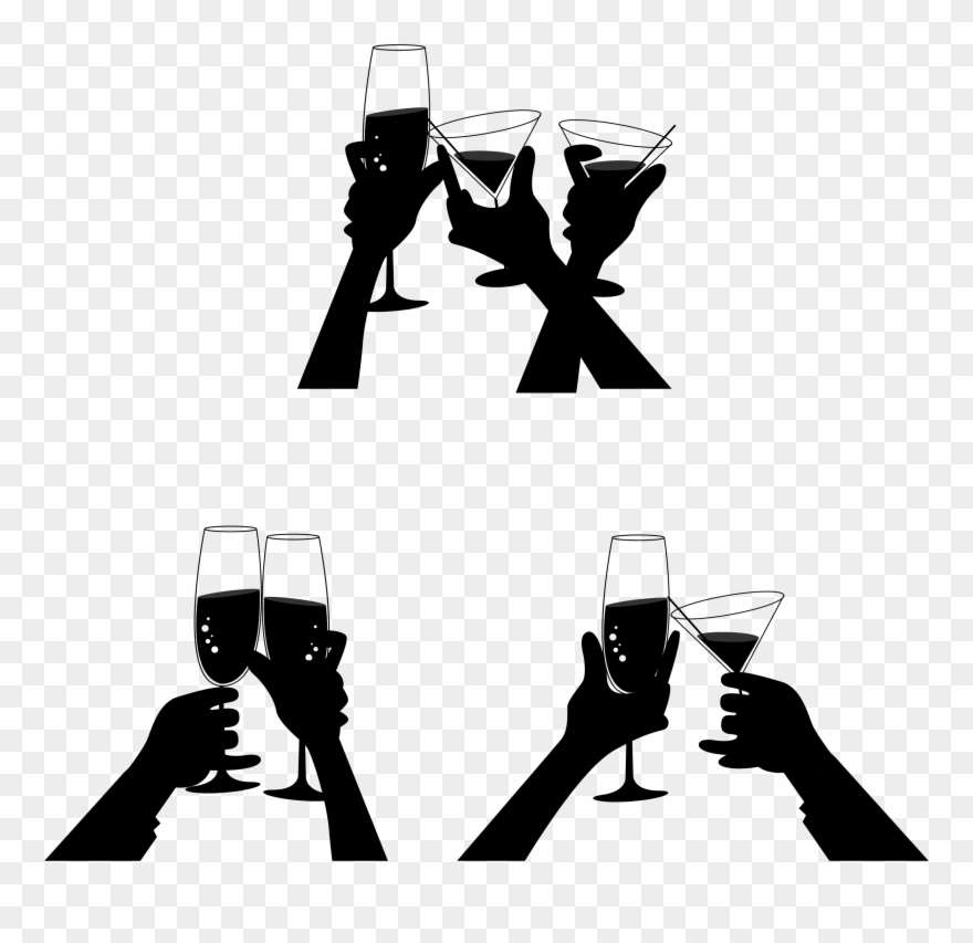 Champagne silhouette clipart picture transparent library Png Library Stock Champagne At Getdrawings Com Free - Toast ... picture transparent library