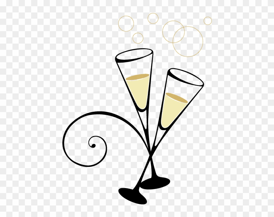 Champaine clipart vector library stock New Year\'s Eve - New Years Eve Champagne Glasses Transparent Clipart ... vector library stock