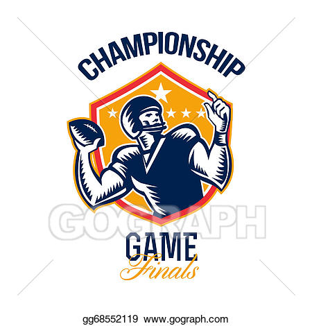 Championship clipart clip art freeuse Stock Illustration - American football championship game finals ... clip art freeuse