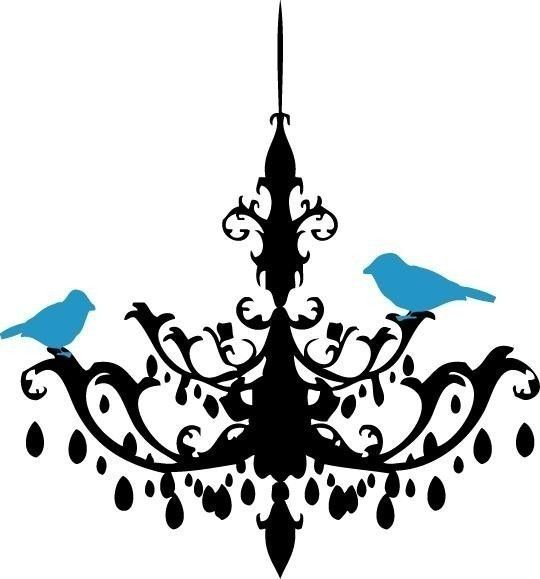 Chandelier clipart free silhouette svg library library Chandelier Silhouette Clipart Chandelier Vinyl Line Drawing ... svg library library