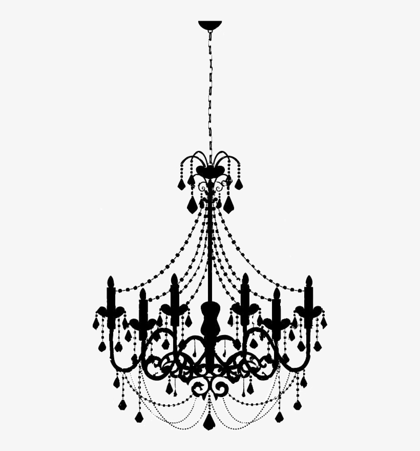 Chandelier clipart transparent png black and white stock Remixit Chandelier Goth Witch Halloween Black Lamp - Transparent ... png black and white stock