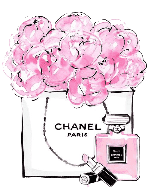 Chanel clipart banner freeuse Download Coco No. Chanel Perfume Free Frame Clipart PNG Free ... banner freeuse