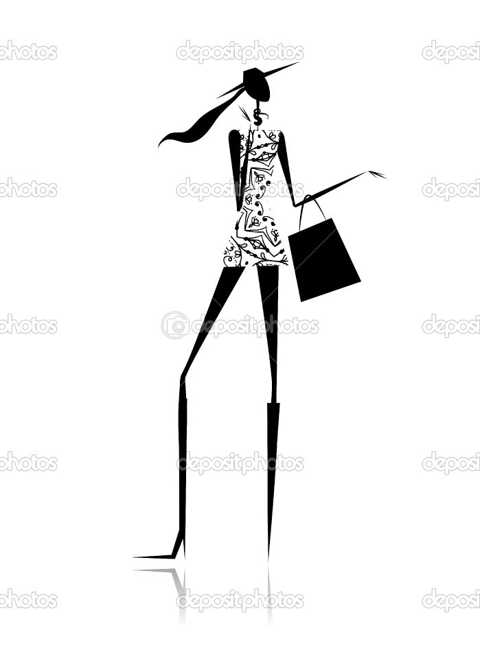 Change clothes on girl black and white clipart banner black and white fashion silhouette - Google Search | changing room ideas | Fashion ... banner black and white