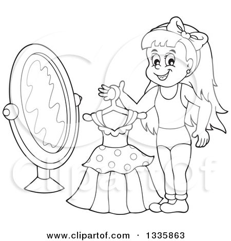 Change clothes on girl black and white clipart png freeuse download Get Dressed Clipart Black And White png freeuse download