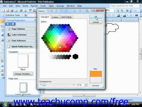 Change color of black and white clipart in publisher image library download Publisher 2003 Tutorial Changing Fill Colors Microsoft Training Lesson 6.1 image library download