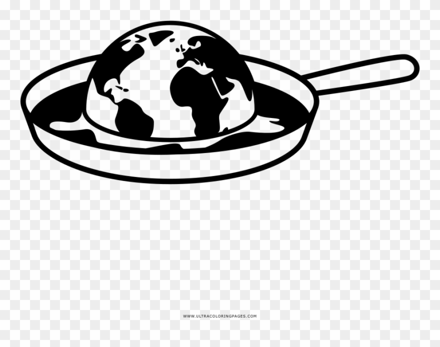 Global warming clipart black and white picture freeuse stock Global Warming Coloring Page - Climate Change Clipart Black And ... picture freeuse stock