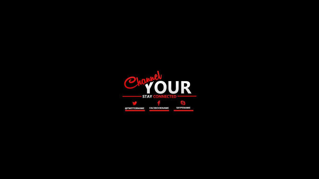 Channel 7 logo clipart black and white svg free stock Youtube Header Template. youtube banner templates 21 free psd ai ... svg free stock