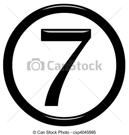 Number free download. Channel 7 logo clipart black and white