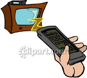 Tv channel clipart freeuse download Hand Holding Remote Control For Tv Set Royalty Free Clipart Picture freeuse download